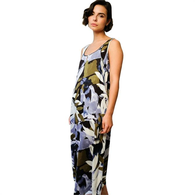 Fable & Eve Kensington Abstract Leaf Long Night Dress