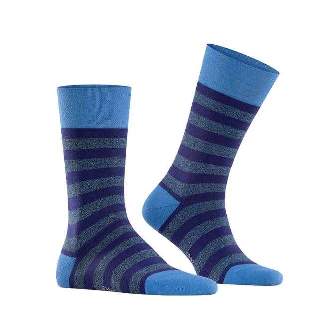 Falke Sensitive Mapped Line Striped Socks