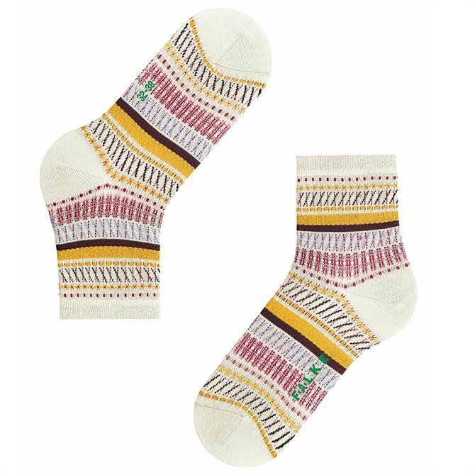Falke Loom Tape Patterned Organic Cotton Women's Socks
