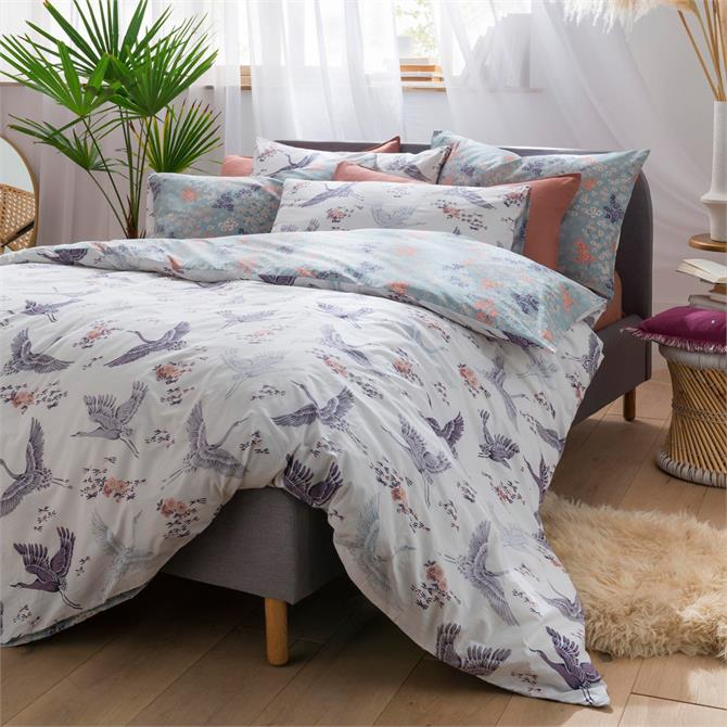 FatFace Floral Flight Iris Reversible Duvet Cover Set