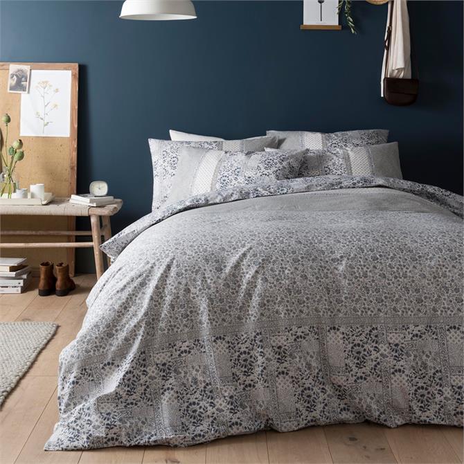 FatFace Floral Mosaic Peal Blue Duvet Cover Set