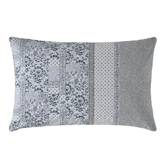 FatFace Floral Mosaic Peal Blue Pair of Standard Pillowcases