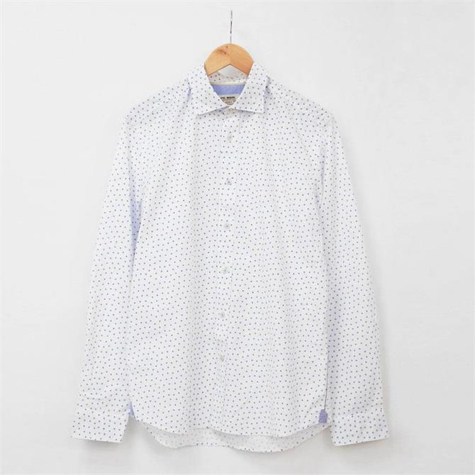 Fil Noir Treviso Fine Cotton Twill Print Shirt