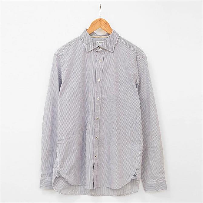 Fil Noir Roma Fine Stripe Poplin Shirt
