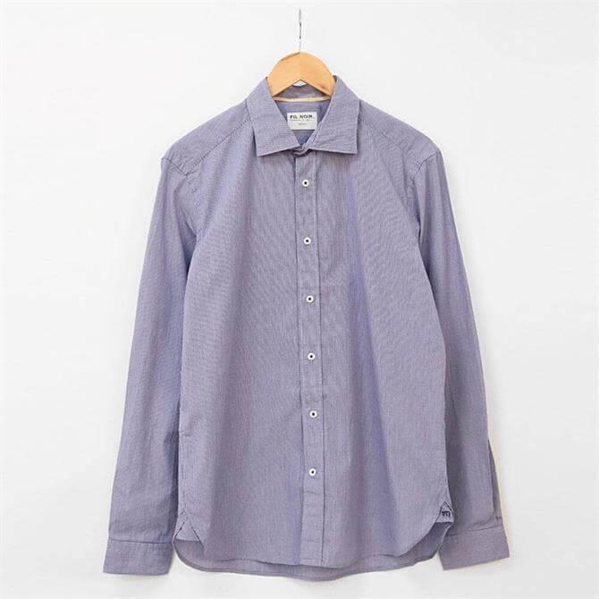 Fil Noir Roma Micro Check Shirt