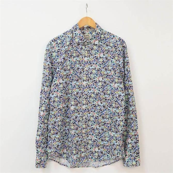 Fil Noir Treviso Poplin Floral Print Shirt