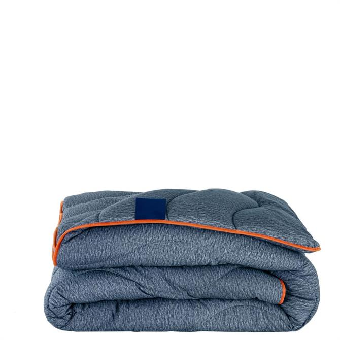 The Fine Bedding Company Night Owl Navy/Orange Duvet 10.5 Tog