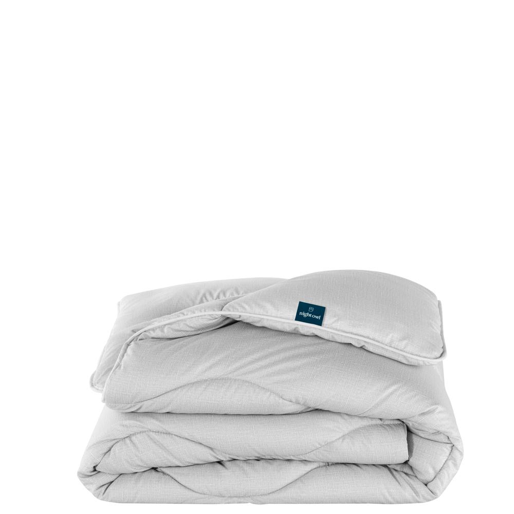 The Fine Bedding Company - Night Owl Washable Duvet Set - Cloud Grey - Double