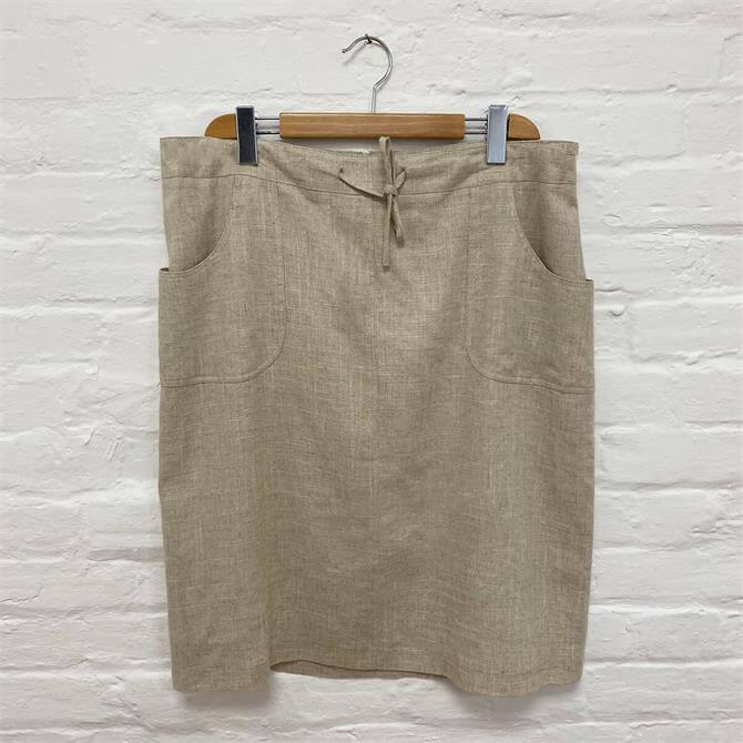 First Avenue Linen Mix Skirt