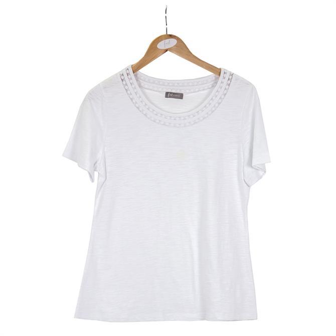 First Avenue Crochet Detail T-Shirt