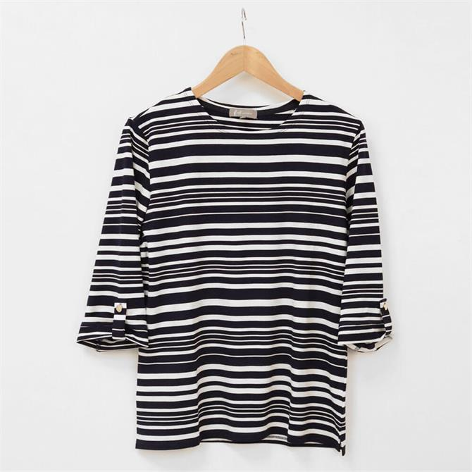 First Avenue Gill Striped 3/4 Sleeve T Shirt