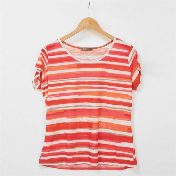 First Avenue Gill Jasmine Stripe T Shirt
