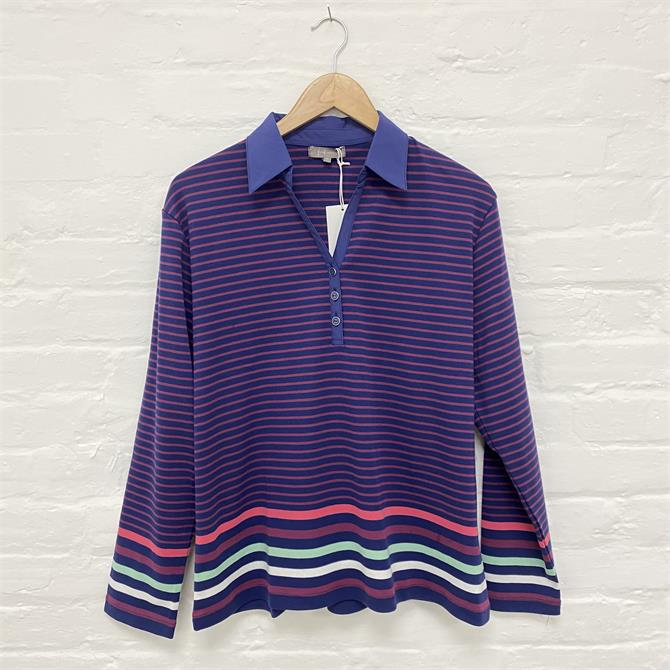 Fisrt Avenue Stripe Polo Shirt