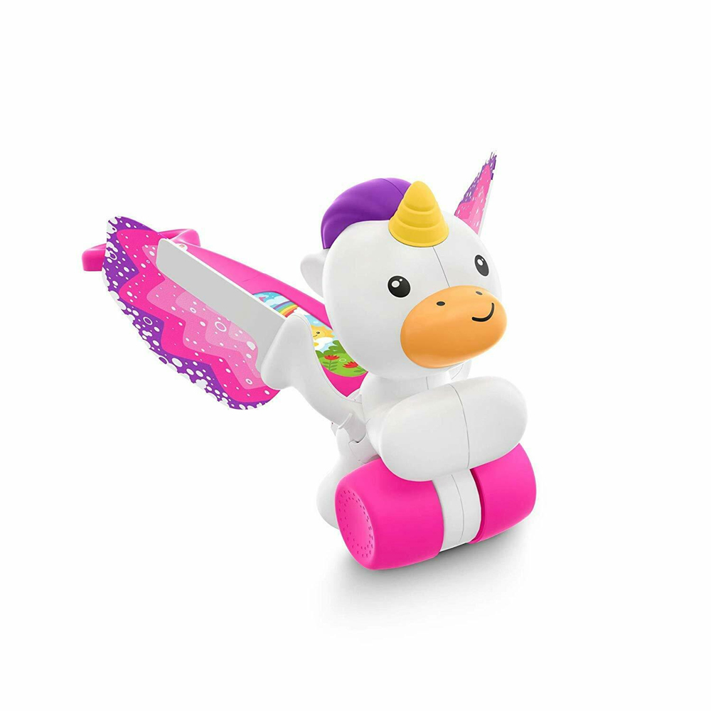 An image of Fisher Price Push & Flutter Unicorn