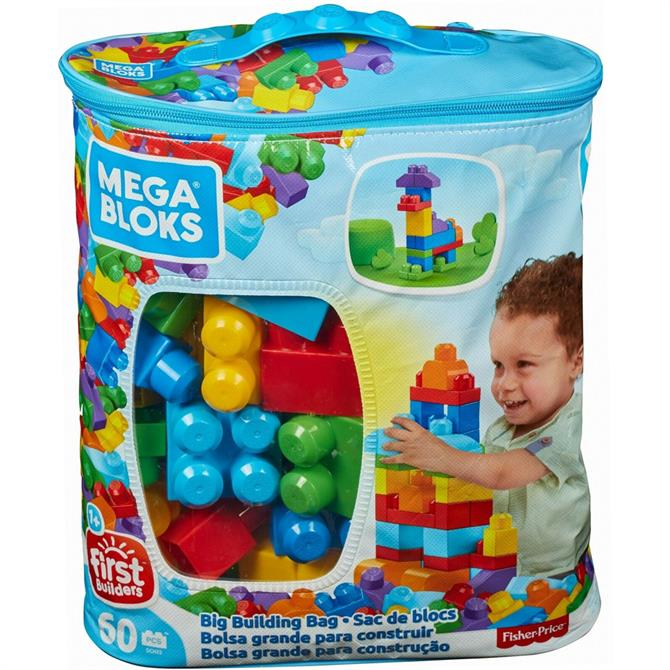 Fisher Price Mega Bloks 60 pcs - Big Building Bag