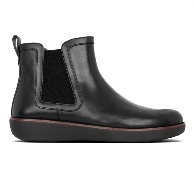 FitFlop™ Black Chai Leather Chelsea Boots