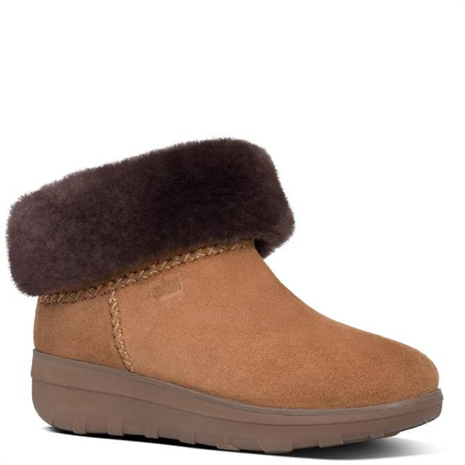 FitFlop™ Mukluk Chestnut Shorty Iii Suede Ankle Boots