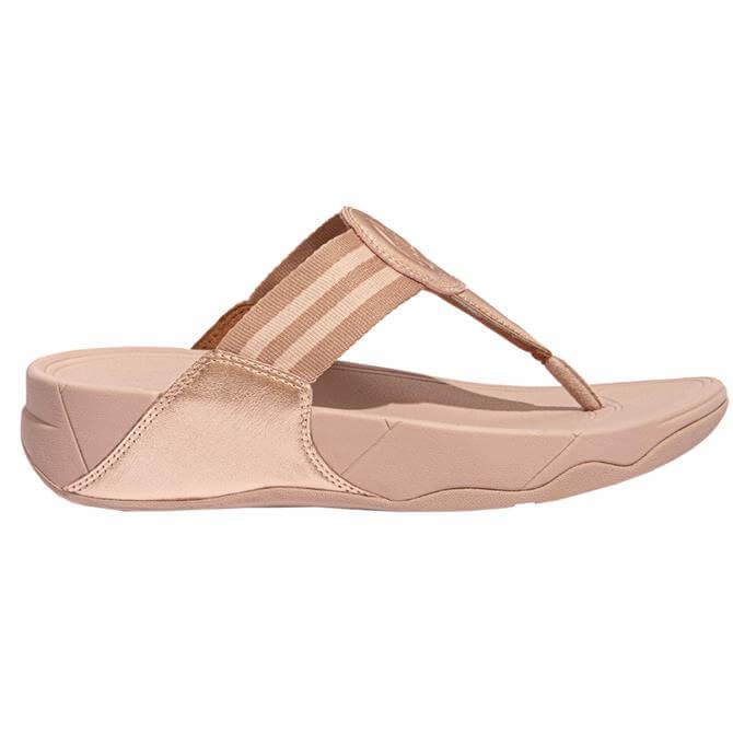 FitFlop™ Rose Gold Walkstar Webbing Toe-Post Sandals