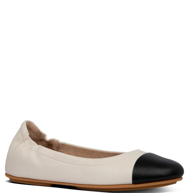 FitFlop™ Allegro Leather Toe-Cap Ballerinas