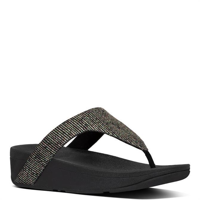 FitFlop™ Lottie Glitter-Stripe Toe-Thongs