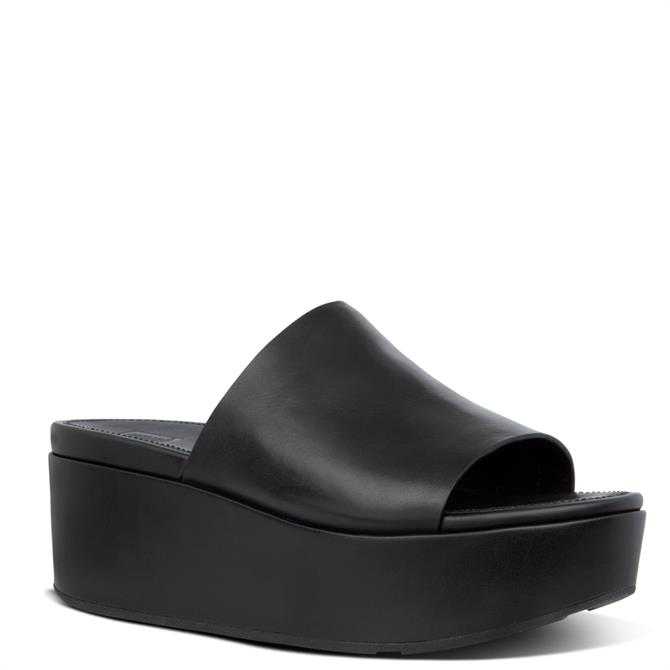 FitFlop™ Eloise Leather Wedge Slides
