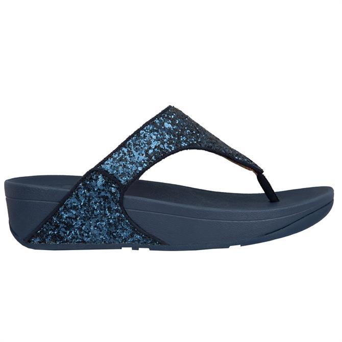 FitFlop™ Lulu Glitter Midnight Navy Toe-Post Sandals