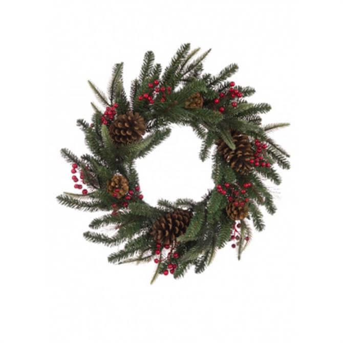 Floralsilk Berry Pine Wreath