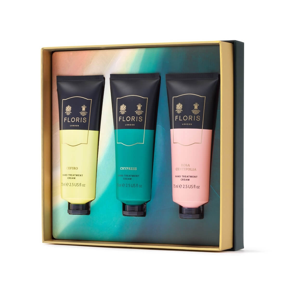 An image of Floris Hand Cream Trio Christmas Gift Set- x3 Hand Creams 75ml