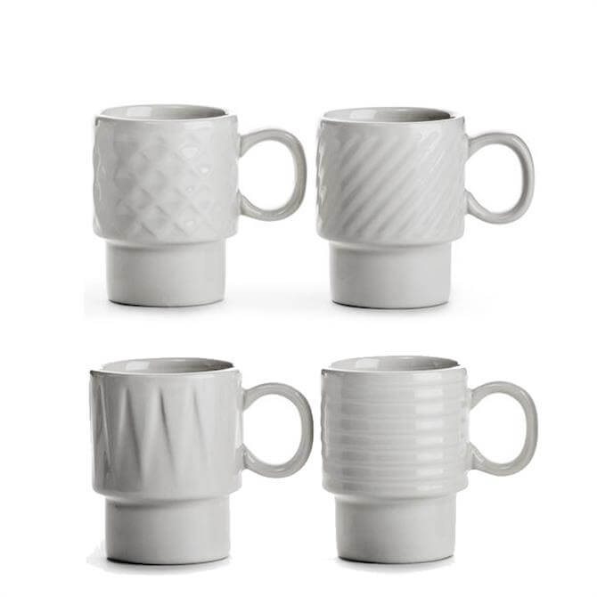 Sagaform Coffee & More Set of 4 Espresso Mugs