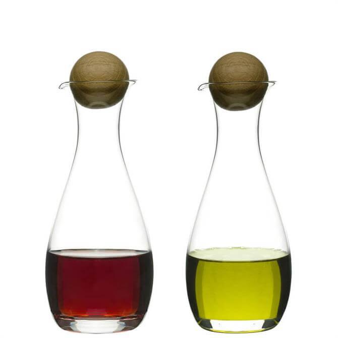 Sagaform Oil/Vinegar Bottles with Oak Stoppers
