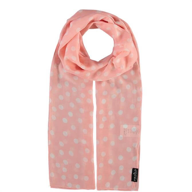 Fraas Light Pink Dot Print Ladies Scarf
