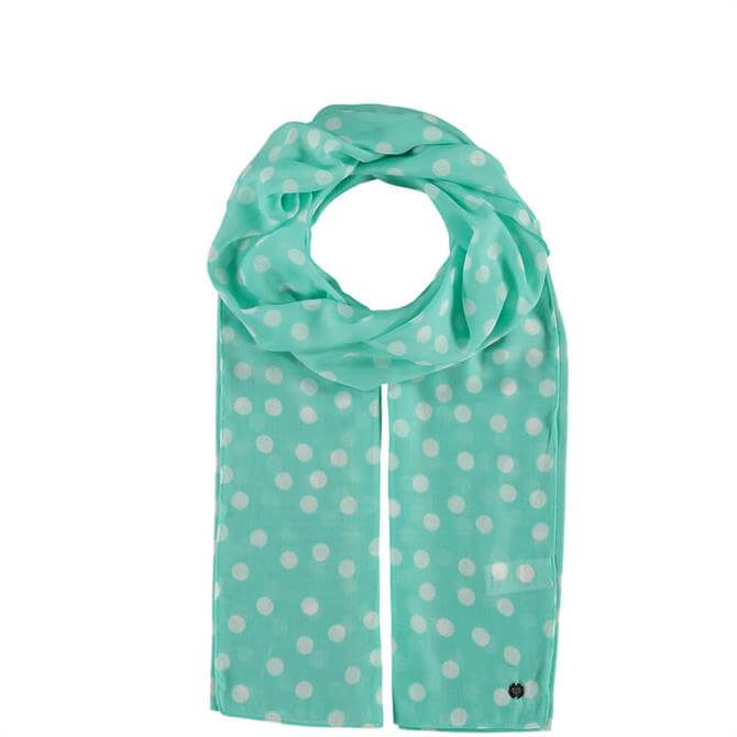 Fraas Dotted Light Green Ladies Scarf