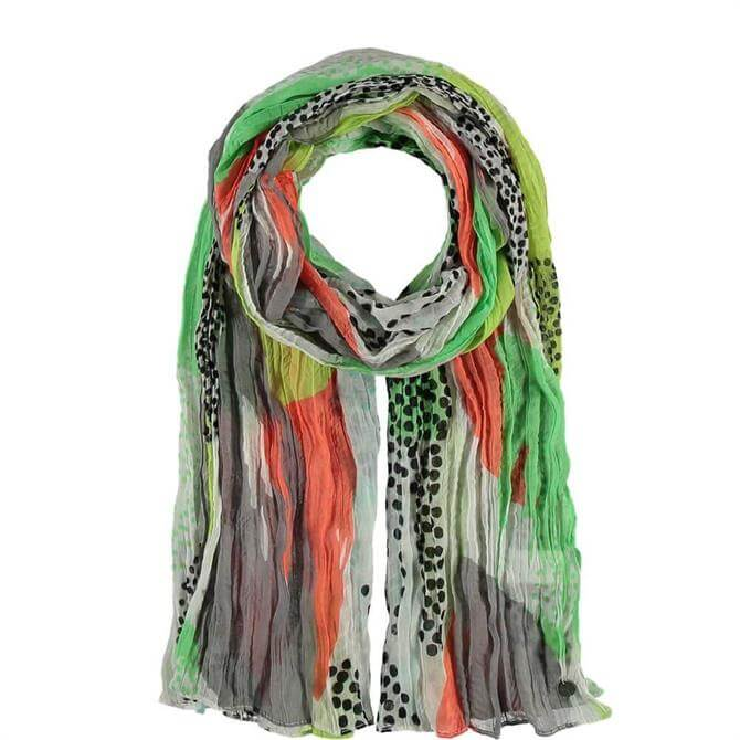 Fraas Multi Patterned Light Green Polyester Ladies Scarf