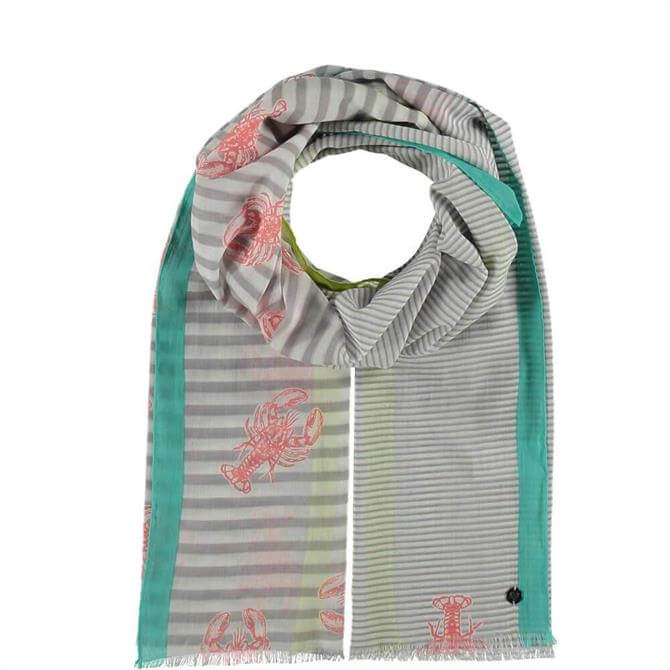 Fraas Shellfish Striped Cotton Scarf
