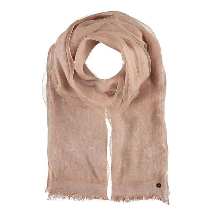 Fraas Light Rose Viscose Blend Scarf