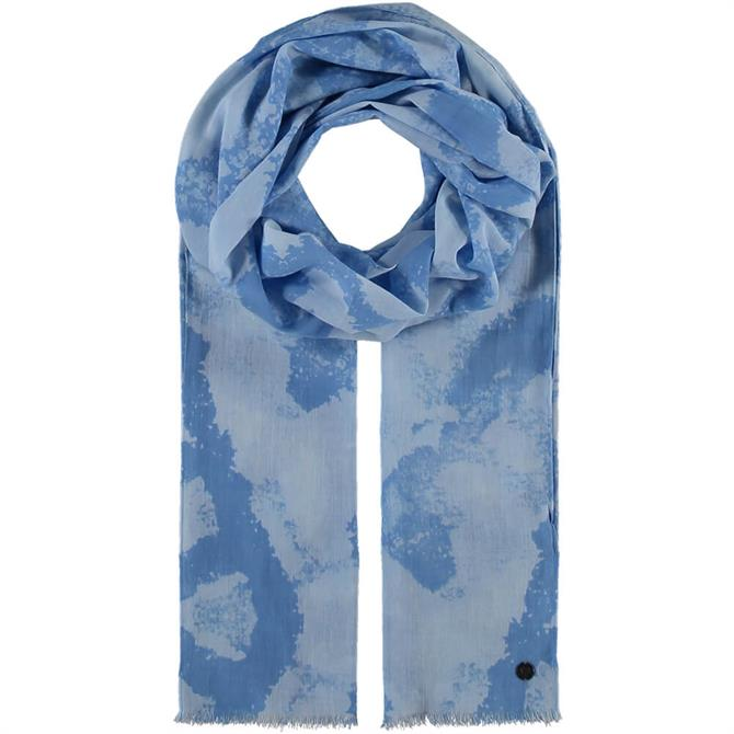 Fraas Ladies Cotton Scarf with Graphic Print