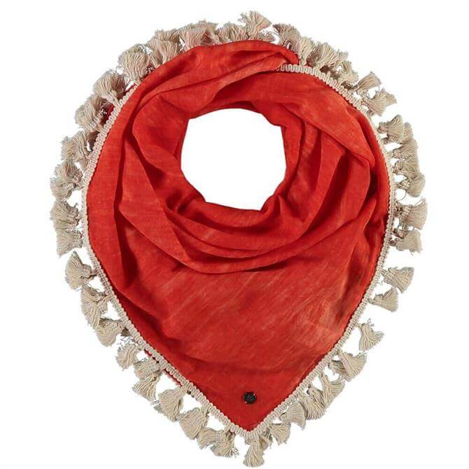 Fraas Ladies Plain Square Scarf with Tassels