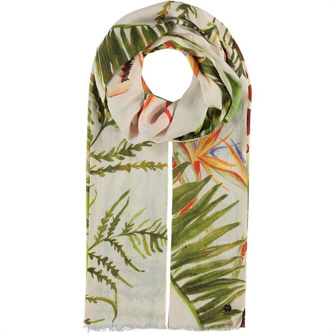 Fraas Ladies Giraffe and Floral Cotton Scarf