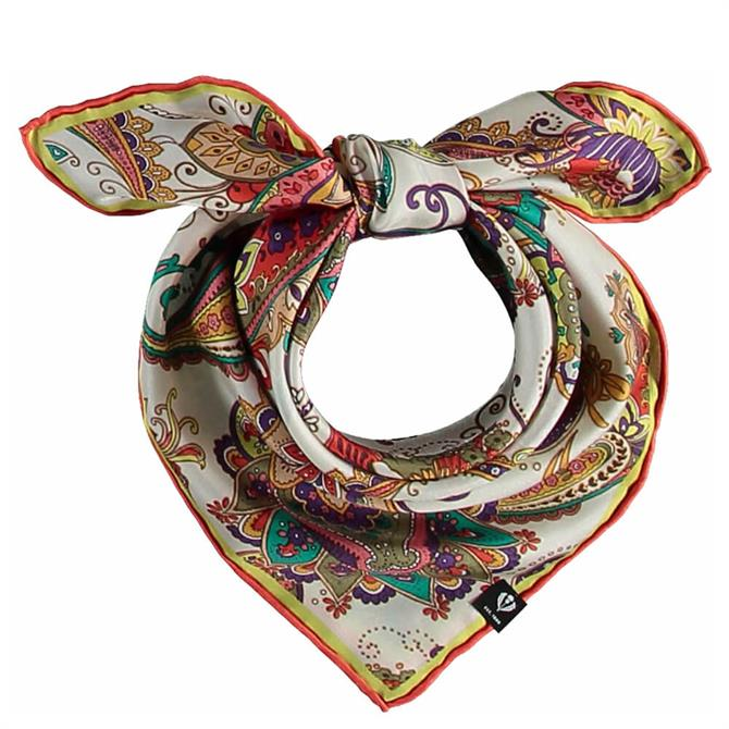 Fraas Ladies Pure Silk Paisley Print Neckerchief