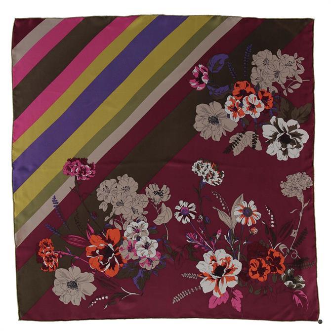 Fraas Graphic & Floral Print Ladies Silk Square Scarf