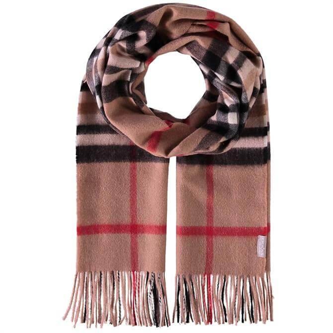 Frass Checked Pattern Ladies Cashmere Scarf