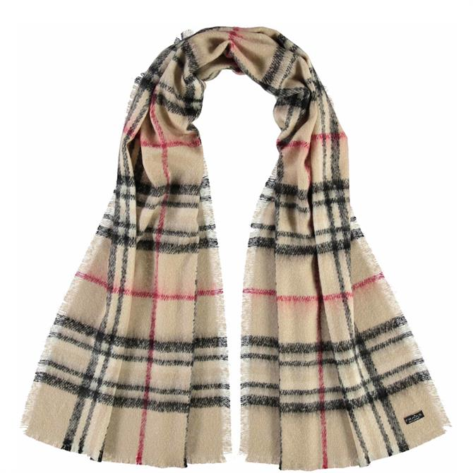 Fraas Ladies Checked Cashmink® Scarf