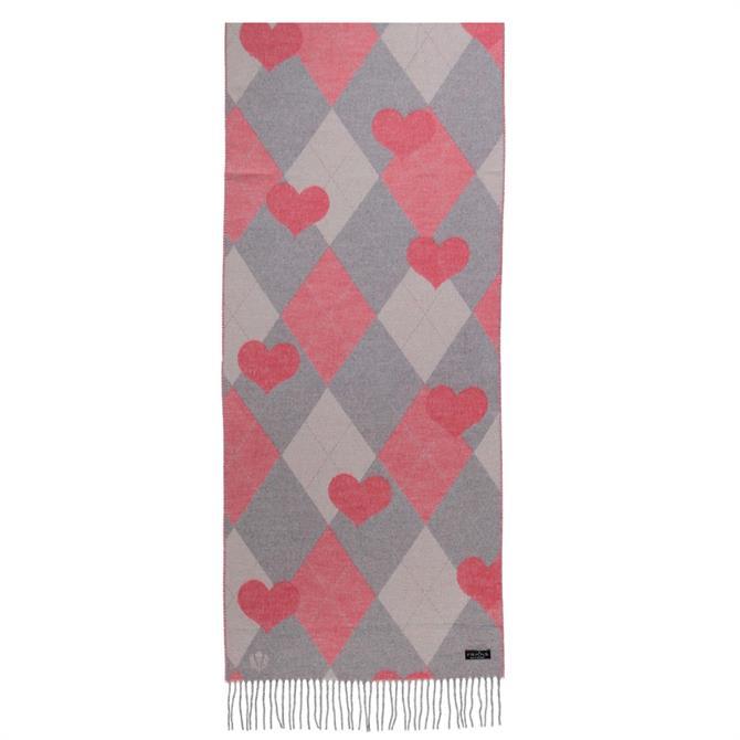 Fraas Heart Print Cashmink Ladies Scarf