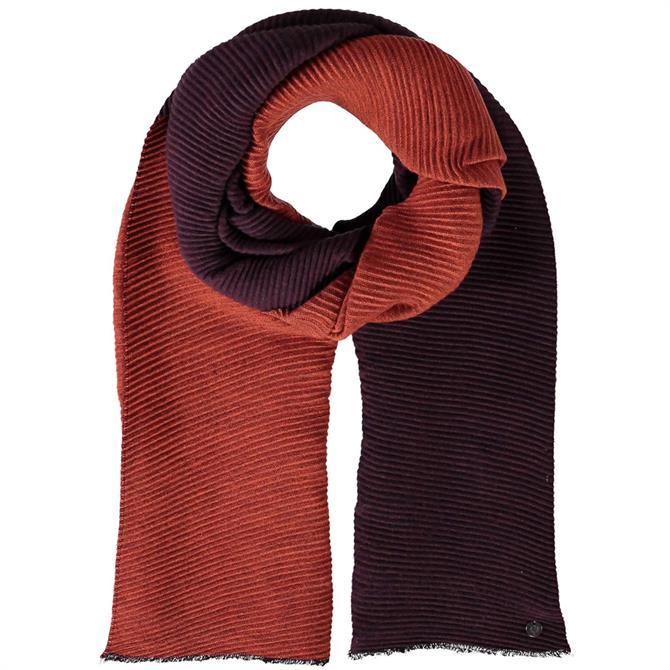 Fraas Two Tone Pleated Ladies Scarf