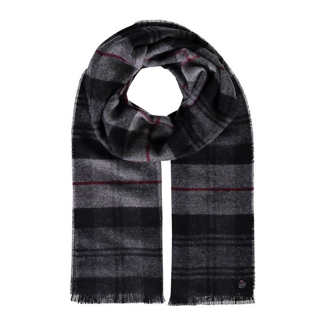 Fraas Plaid Pure Cashmere Scarf