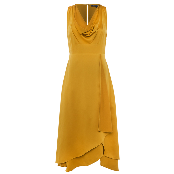 French Connection Alessia Satin Cowl Neck Dress