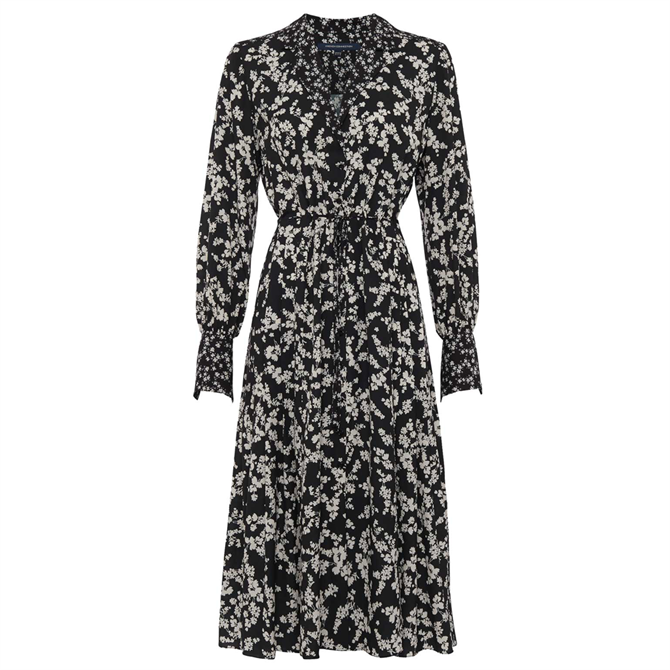 French Connection Bruna Floral Midi Shirt Dress