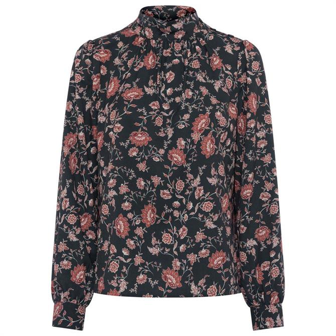 French Connection Alison Light Button Neck Top