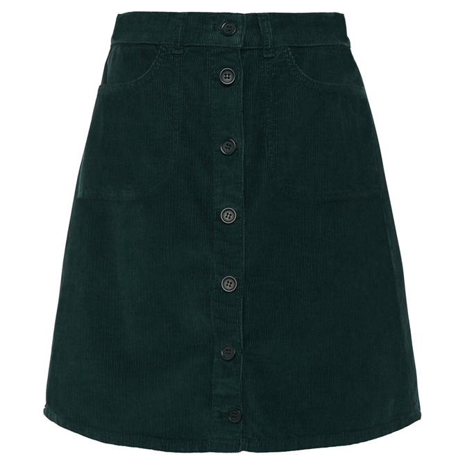 French Connection Manzu Cord Button Skirt