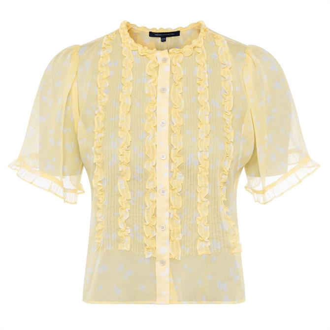 French Connection Bonita Crinkle Short Sleeved Shirt